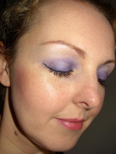 Maquillage lavande avec Lancôme