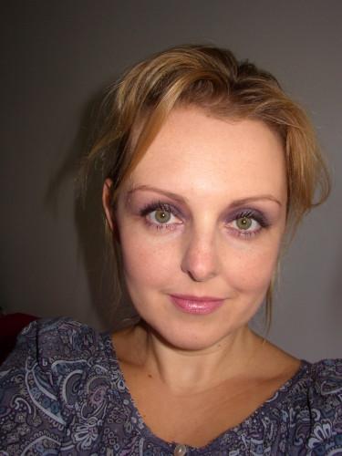 Maquillage du jour : smoky violet léger