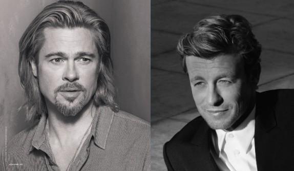 Simon Baker égérie Givenchy // vs // Brad Pitt égérie Chanel