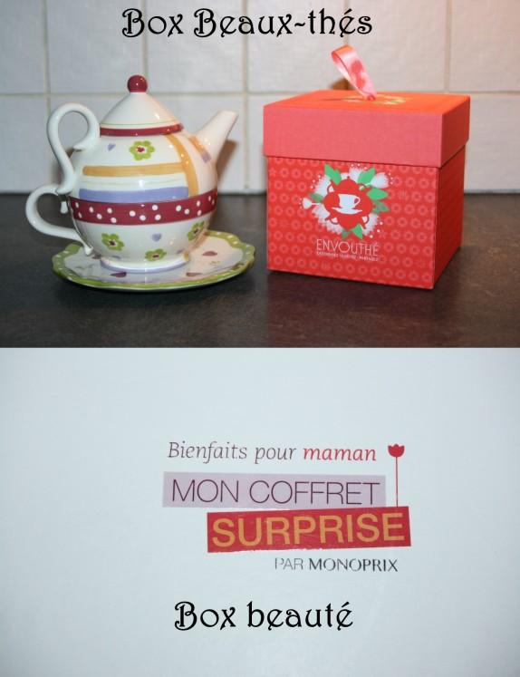 Deux box [beauté/beaux-thés] pour les mamans !