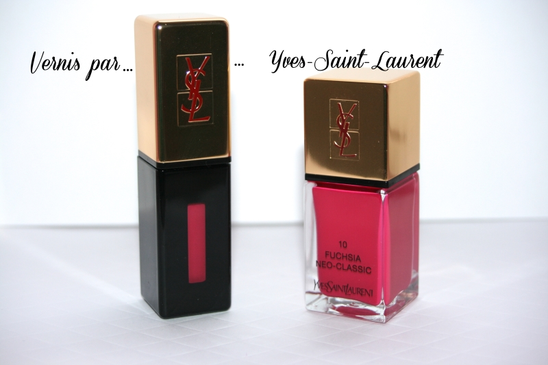 vernis à lèvres YSL - vernis à ongles YSL