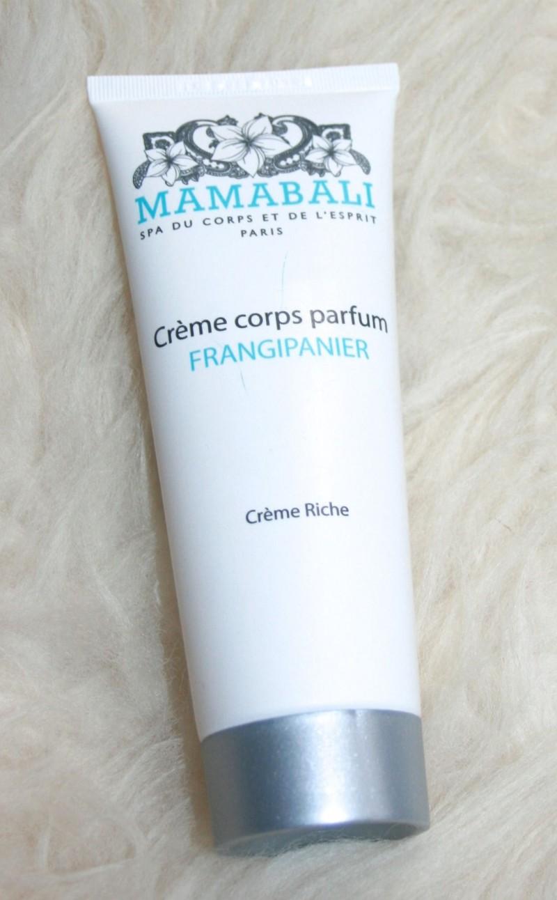 crème corps frangipanier mamabali