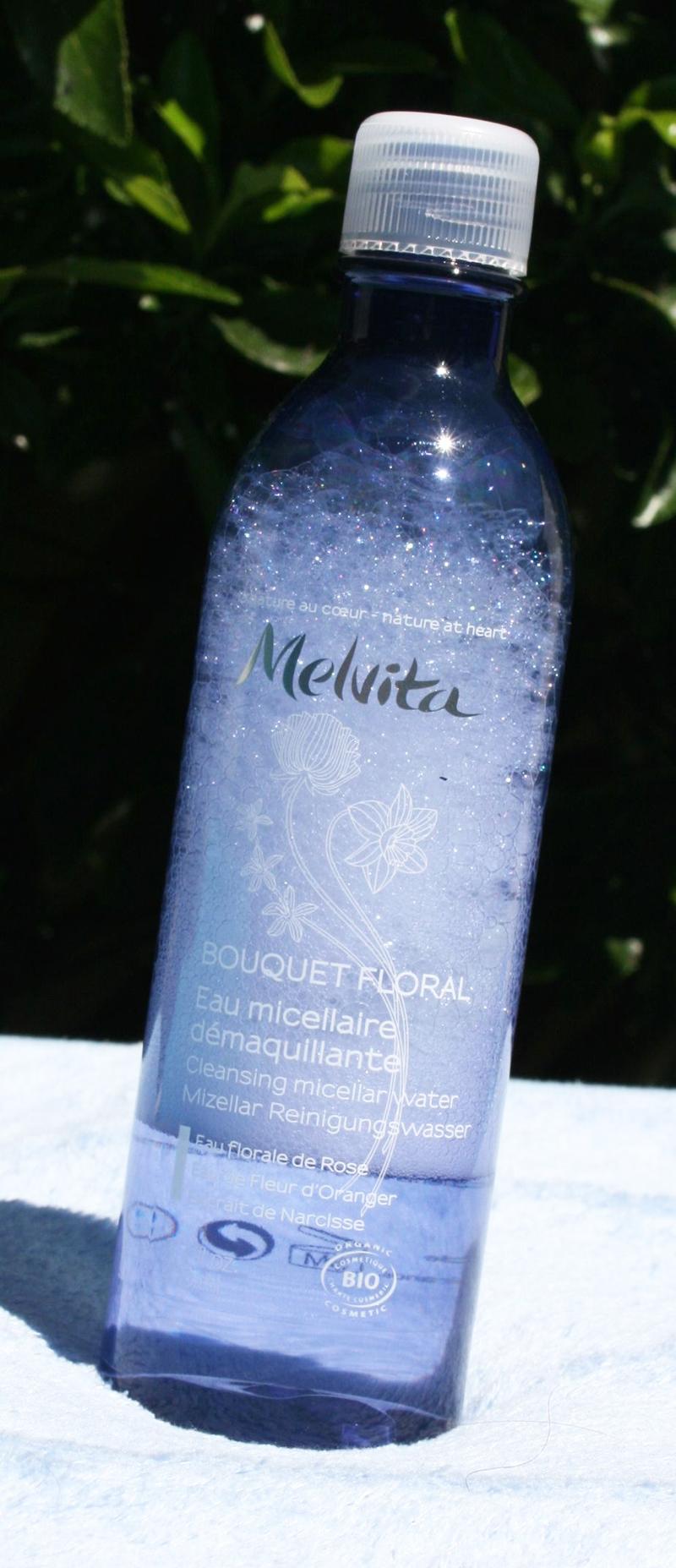 L'eau micellaire Melvita «Bouquet floral» : parfaite pour les peaux délicates