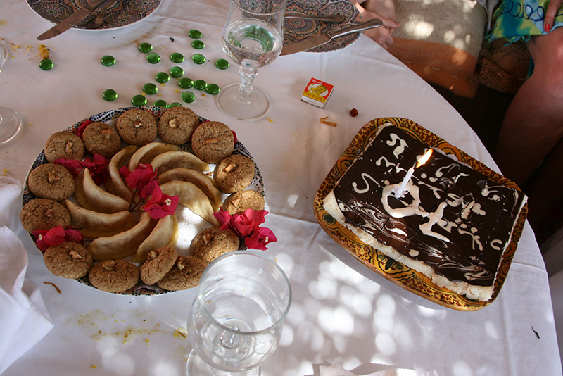 et les pâtisseries orientales pour fêter dignement l'anniversaire
