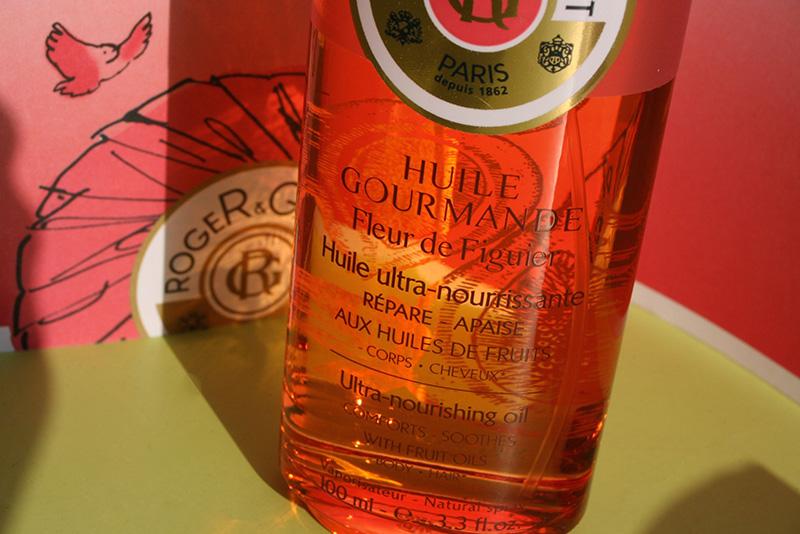 L'huile gourmande «fleur de figuier» : les reflets estivaux de Roger & Gallet