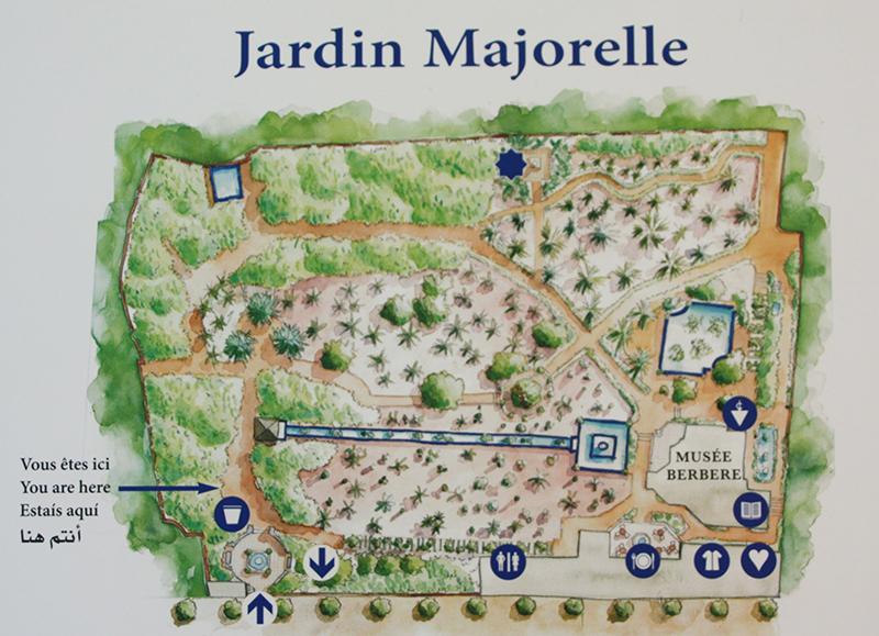 Le jardin Majorelle, c'était une des visites que j'attendais le plus !