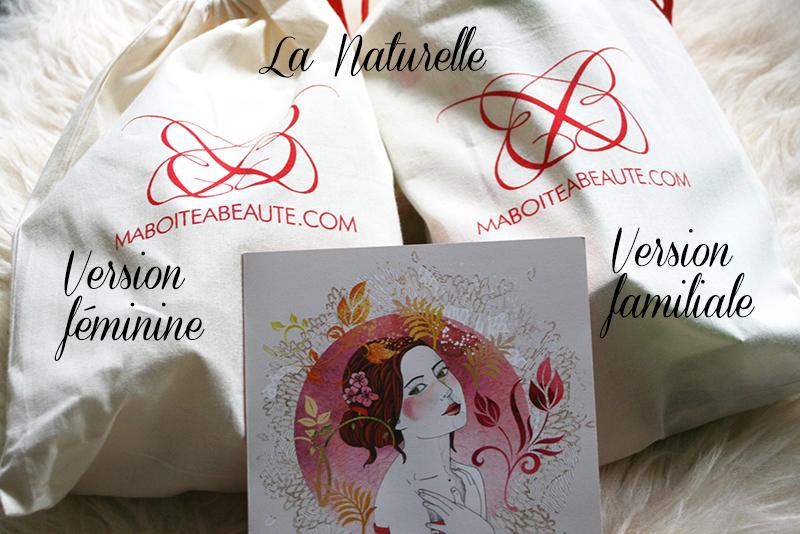 Ma Boîte à Beauté – La Naturelle – versions féminine & familiale
