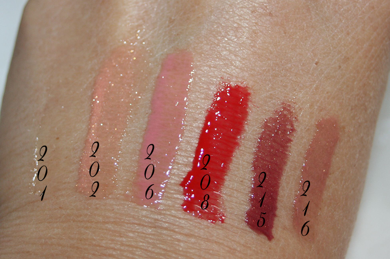 swatch gloss 3D Kiko