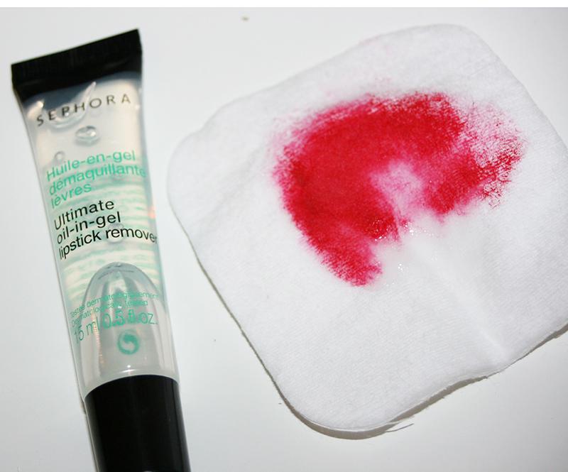 Une huile pour dégommer le rouge à lèvres