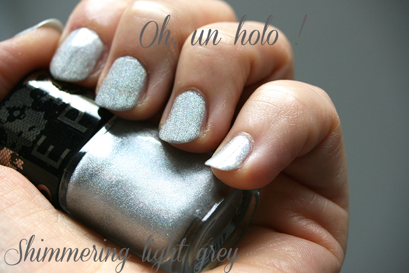 shimmery light grey