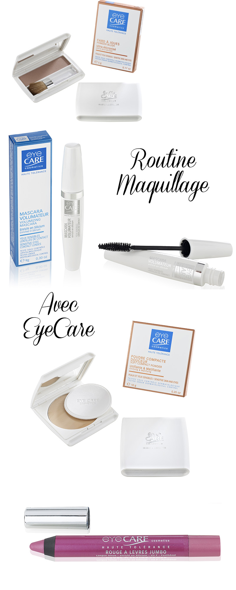 Routine maquillage à gagner avec EyeCare