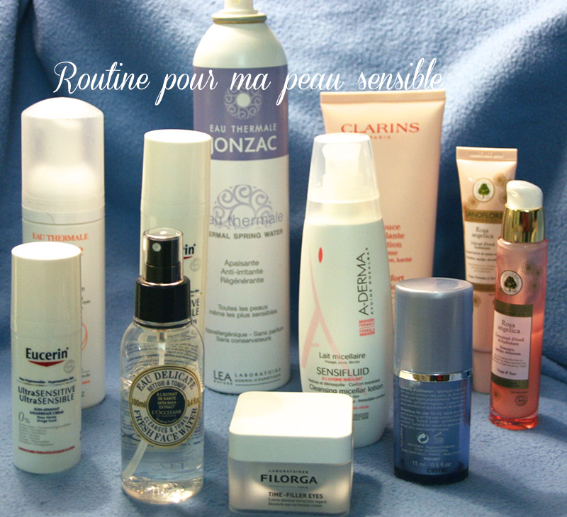Ma routine pour peau sensible