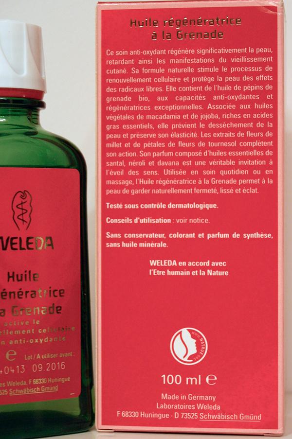 huile régénératrice à la grenade weleda