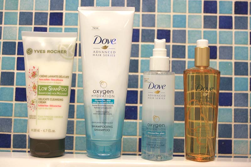 Routine cheveux fins  : excellente surprise pour DOVE et Yves Rocher (low shampoo)