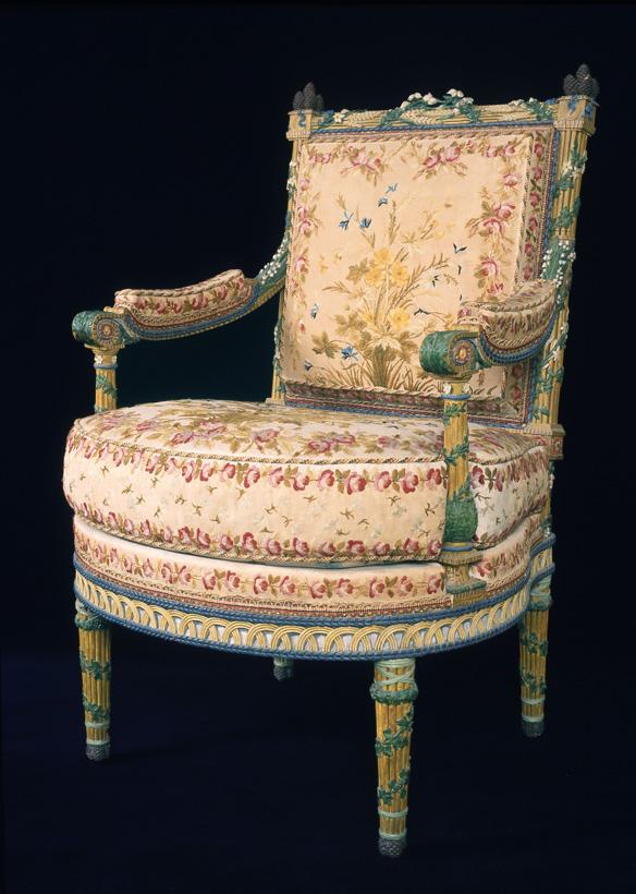 Fauteuil aux épis de Marie-Antoinette - (c) musée des beaux-arts d'Arras