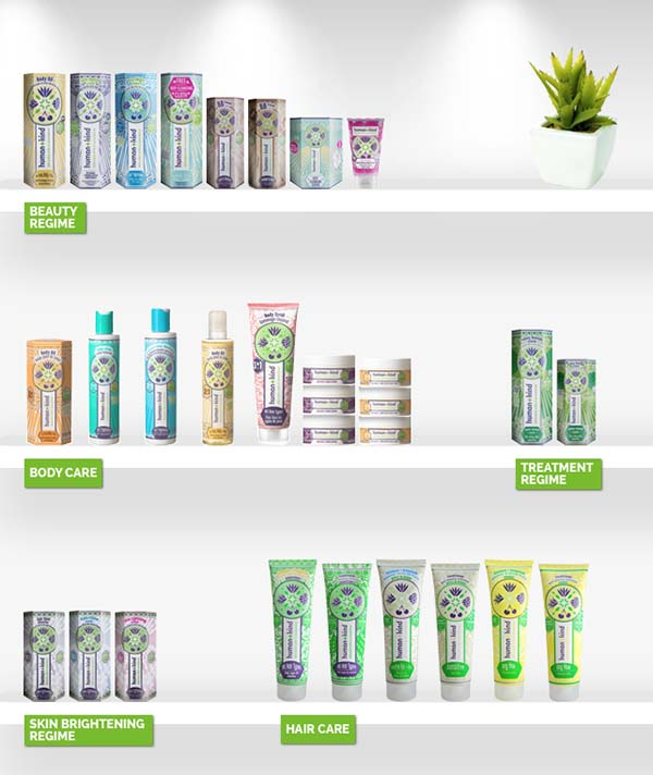 Une grande partie de la gamme Human+Kind disponible outre-Manche (on veut aussi la BB crème et les capillaires !)