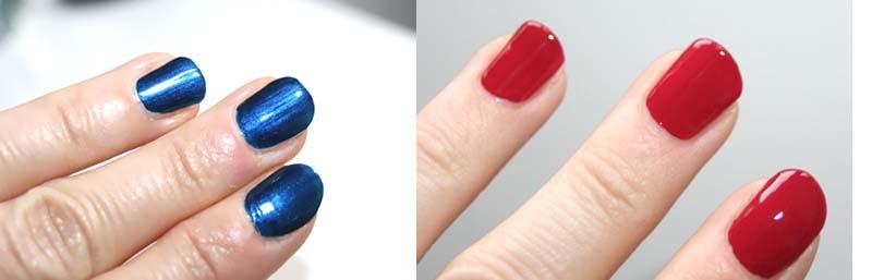 vernis YSL rouge et bleu