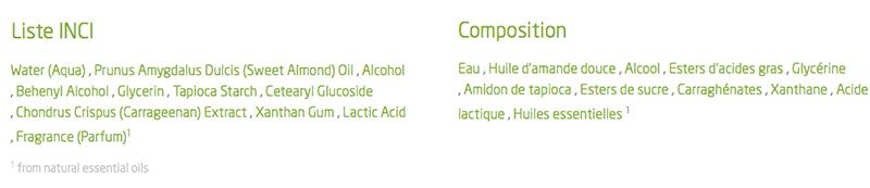 composition crème pour les mains amande weleda