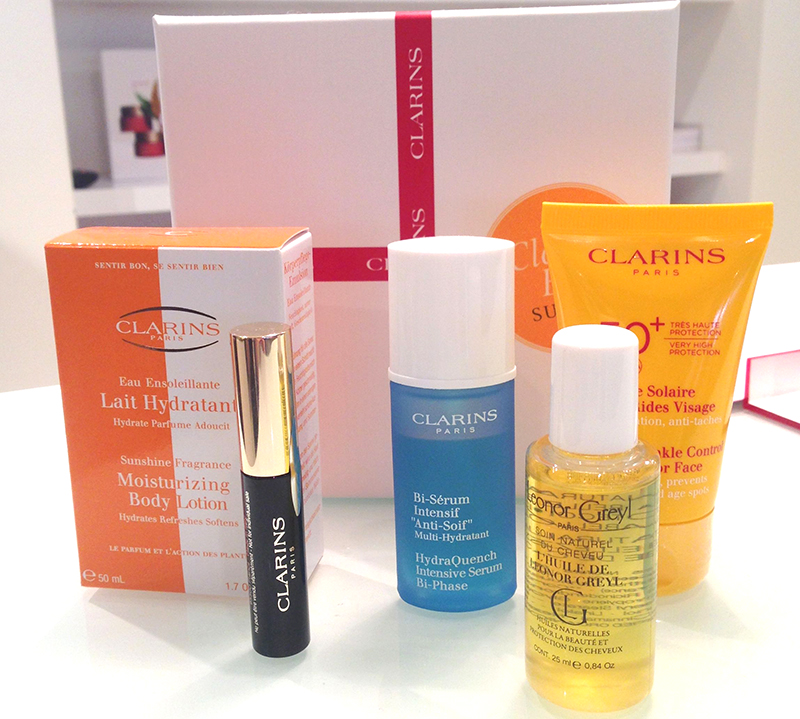 contenu clarins summer box