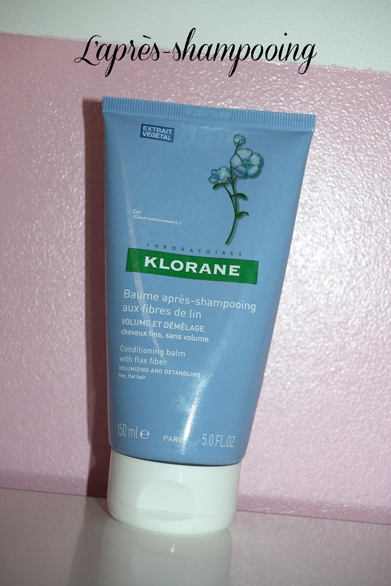 baume après-shampooing aux fibres de lin Klorane