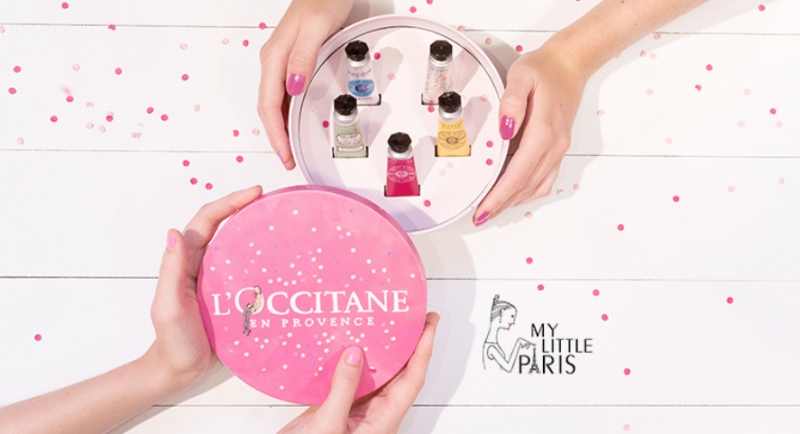 coffret crème mains l'Occitane My Little Paris