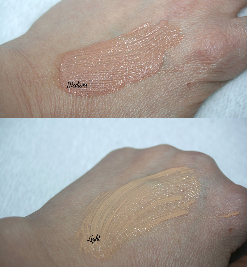 swatch CC crème eucerin light et medium