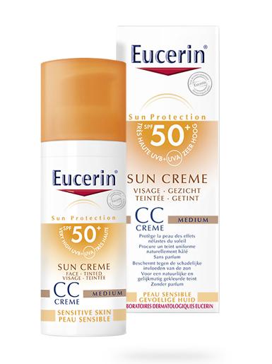 Sun crème CC crème eucerin