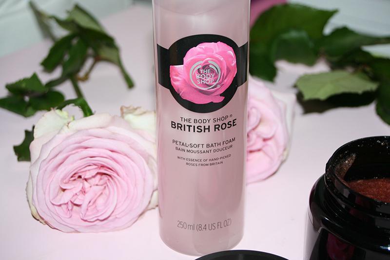 bain moussant british rose
