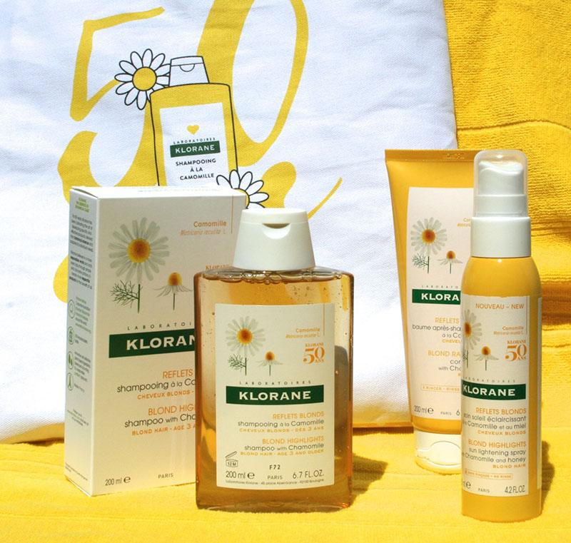 La gamme à la camomille Klorane : un concentré de blondeur pour vos cheveux