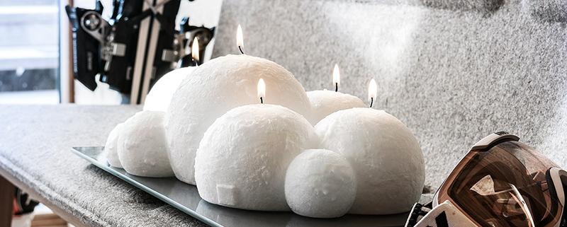 Jolie sélection de bougies d'hiver et Noël