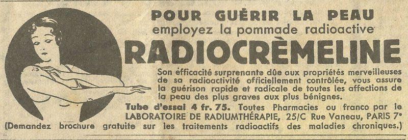 Du danger des cosmétiques… vous reprendrez bien un peu de crème radioactive?
