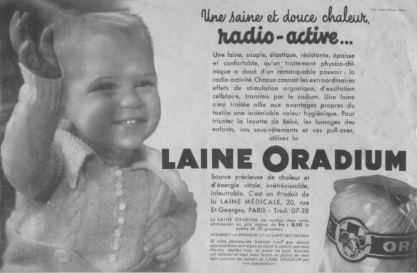 laine au radium