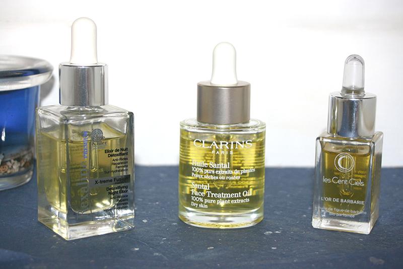 Trois nouvelles huiles visage dans ma salle de bain [Rexaline, Clarins et les Cent Ciels]