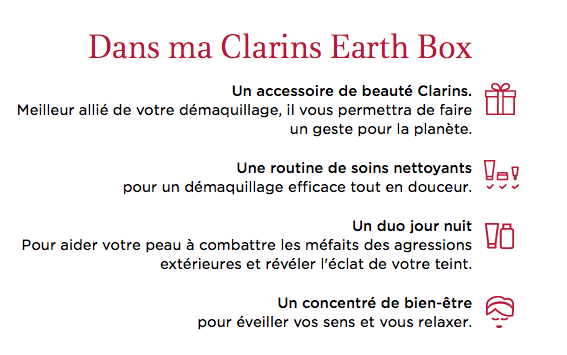 contenu clarins earth box
