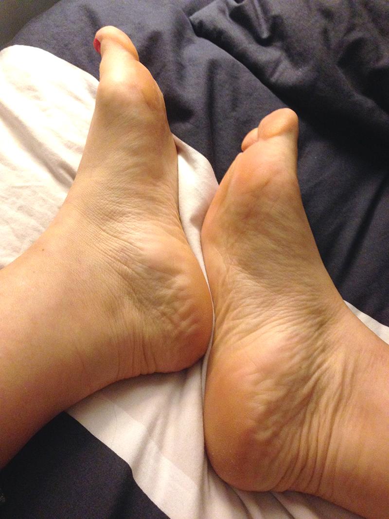 avant ou après, mes pieds ont gardé le même aspect !