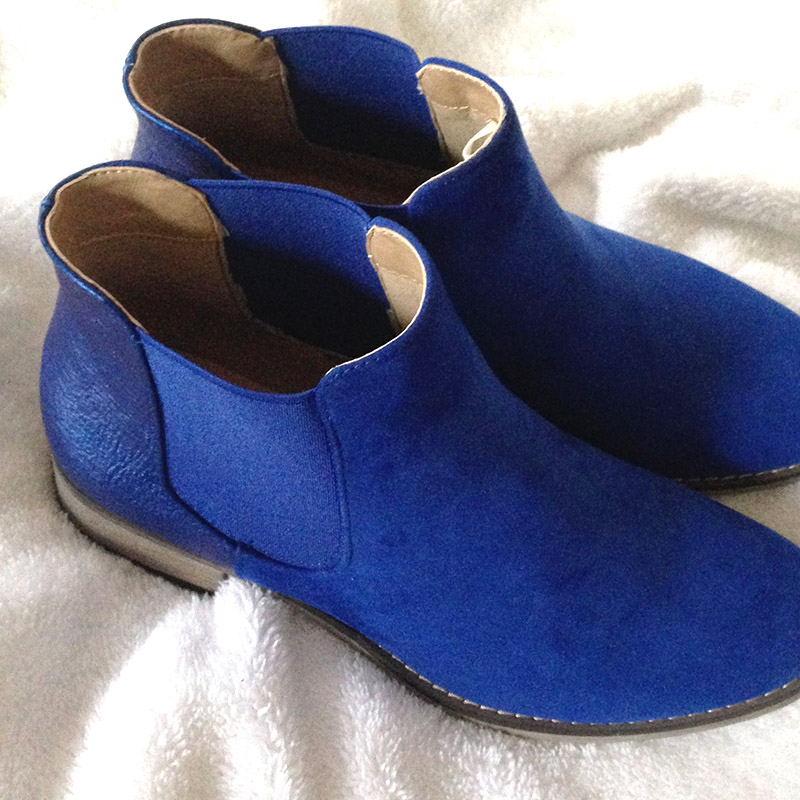 bottines bleu klein