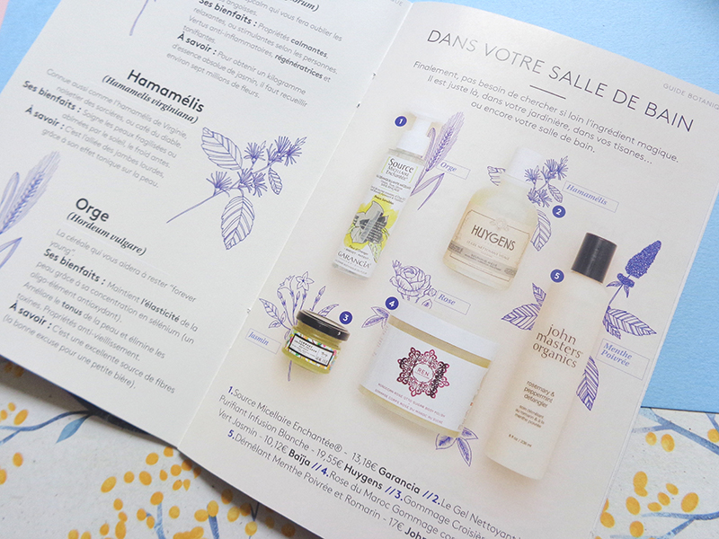 BIRCHBOX avril 2018 : Jardin secret