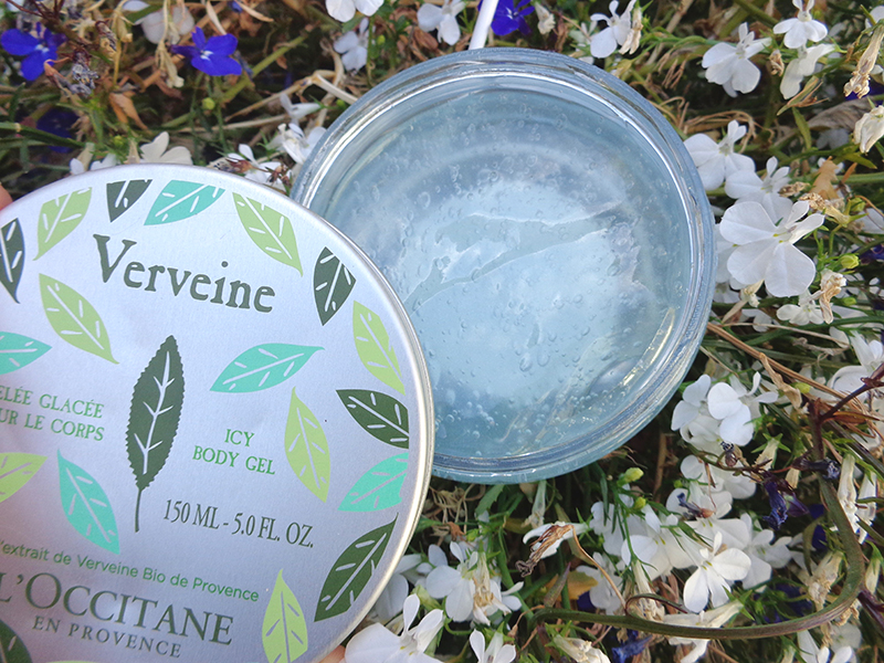 gelée glacée verveine icy body gel occitane