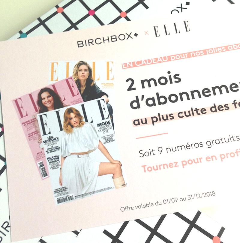 abonnement ELLE x Birchbox