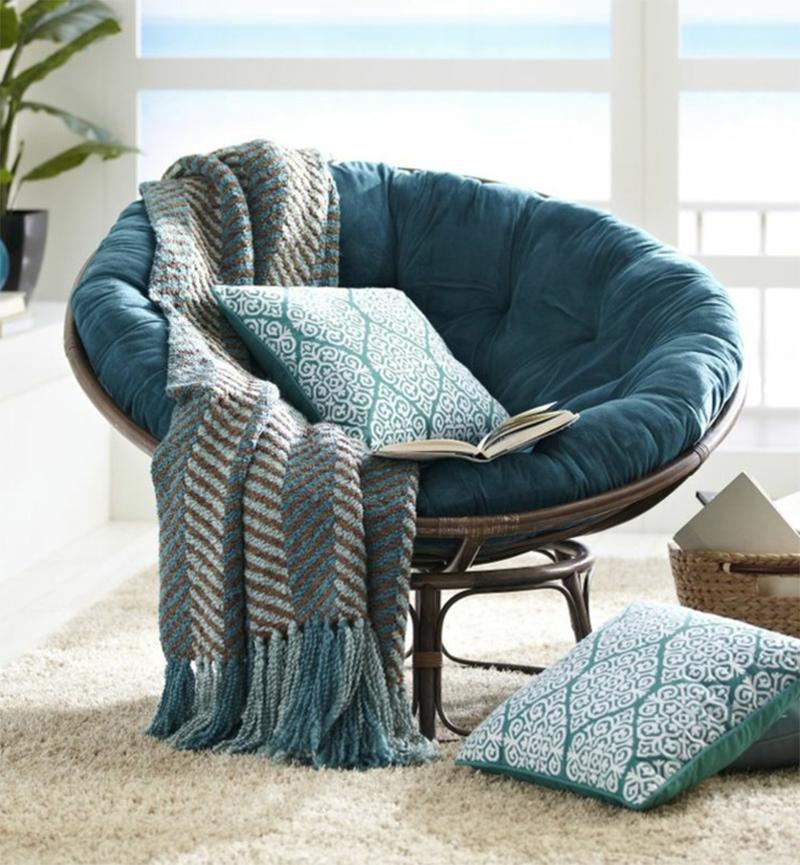 fauteuil bleu lecture cosy