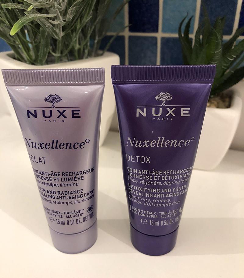 du soin, la gamme Nuxellence, les deux produits que j'utilise en ce moment, des 15 ml qui font  sans doute une quinzaine de jours de soins)