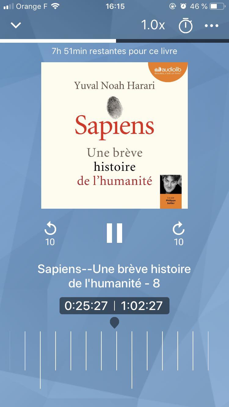 [Lecture] J'ai testé le livre audio – Sapiens, une brève histoire de l'humanité de Yuval Noah Harari