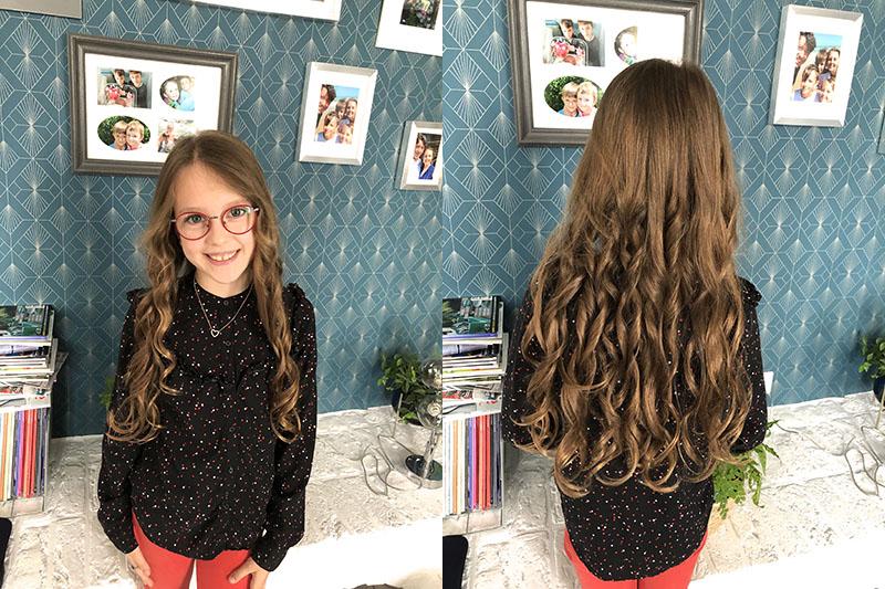 l'effet obtenu sur cheveux plus longs, plus épais et plus nombreux (mais avec un temps de pose plus longs et une température un peu supérieure !)