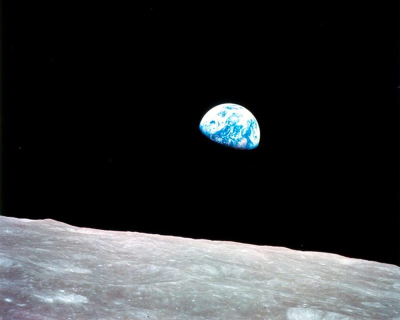 La Terre depuis la Lune (photo prise par la mission Apollo 8)