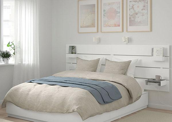 tête de lit rangement