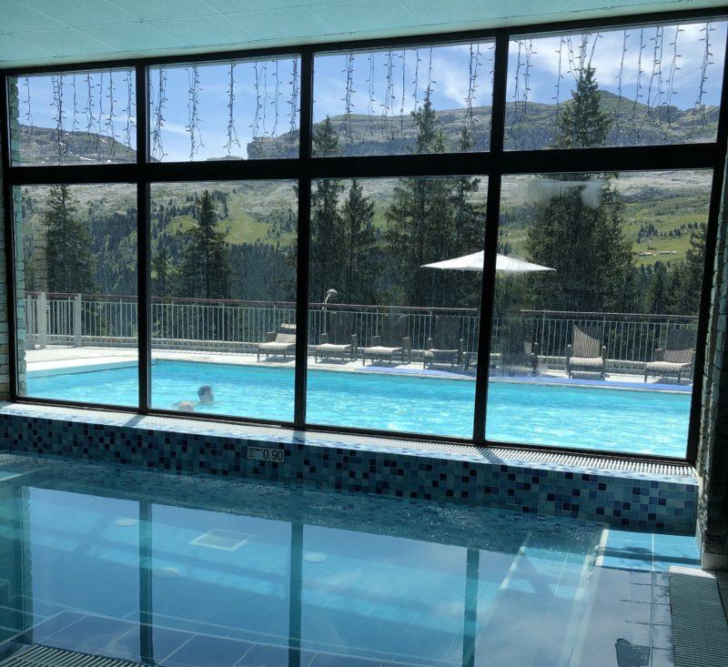 vue residence piscine flaine premium